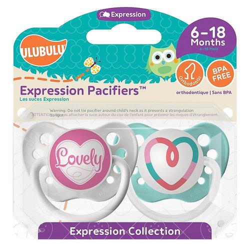 Lovely & Pink Heart Pacifier Set by Ulubulu