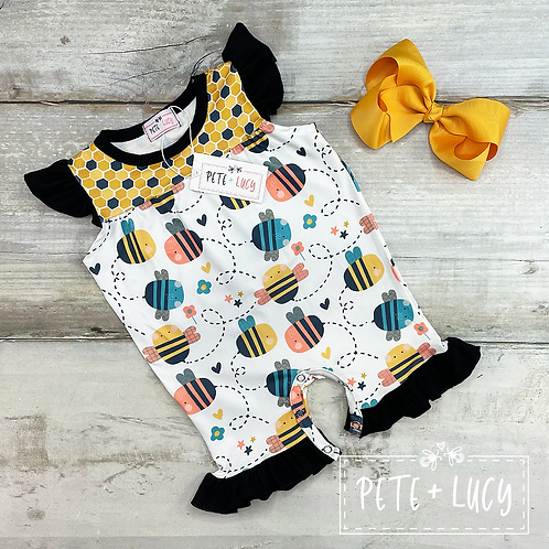 Buzz Buzz Romper by Pete + Lucy