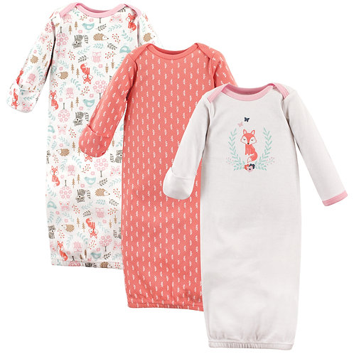 Hudson Baby Sleep Gown Woodland Fox