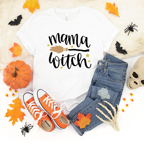Mama Witch T-Shirt, Halloween Shirt for Moms