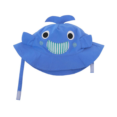 UPF50+ Sunhat - Willy the Whale, Whale Sun Hat for Baby