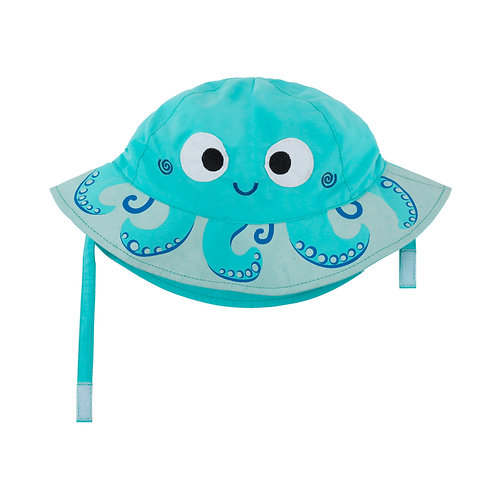 UPF50+ Sunhat - Owie the Octopus, Octopus Sun Hat for Baby