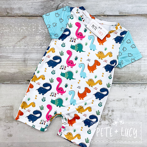 Dino Days Collection, Boys Romper by Pete + Lucy