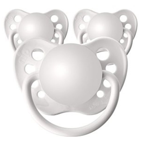 Baby Name Pacifiers - 3 Pk White, Ulubulu, Personalized Pacifiers