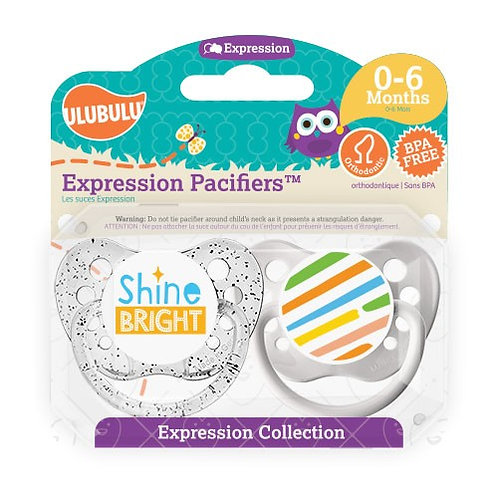 Shine Bright Expression Pacifier Set