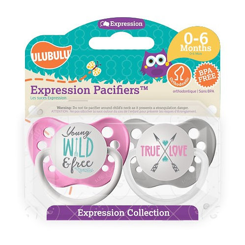 Young, Wild, & Free Pacifier Set