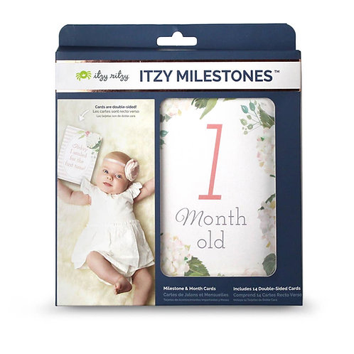 Itzy Milestone Cards Pink Floral