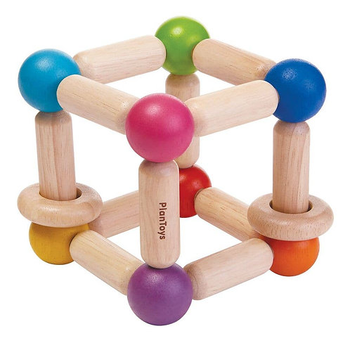 square clutching toy by plan toys