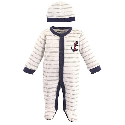 Anchor Nautical Sleeper and Cap, Preemie, sleepers for preemies