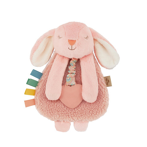 Itzy Ritzy Lovey, Plush and Teether Toy Pink Bunny