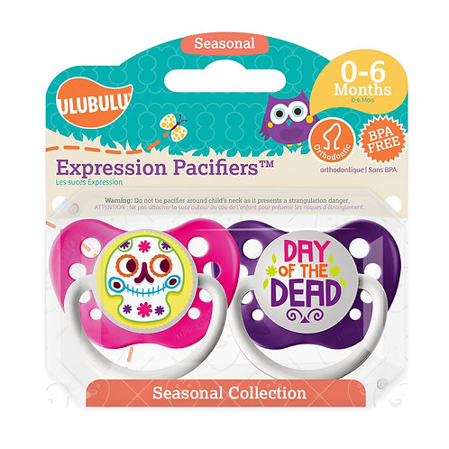 Day of the Dead Girl's Holiday Pacifier Set