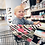 Mom Boss 4-IN-1 Multi-Use Nursing Cover and Scarf can be used as a standard shopping cart cover