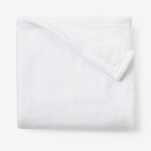 White Simple Fleece Baby Blanket by Elegant Baby