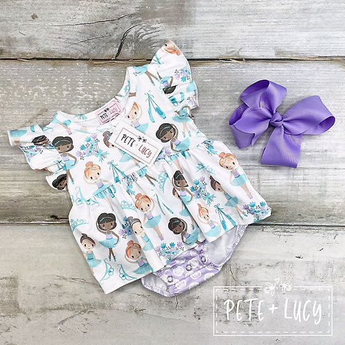 Tiny Dancer Collection, Baby Girl Summer Romper