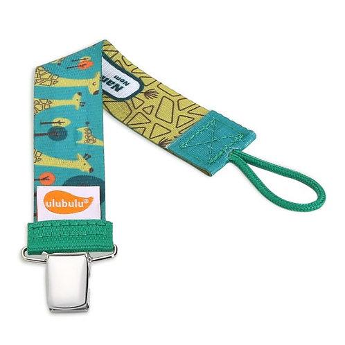 Green Giraffe Pacifier Clip