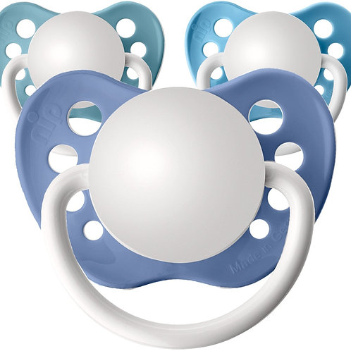 Baby name pacifiers, add your own name or text. All Blues