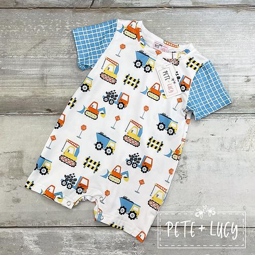 Construction Cutie Boys Infant Romper by Pete + Lucy