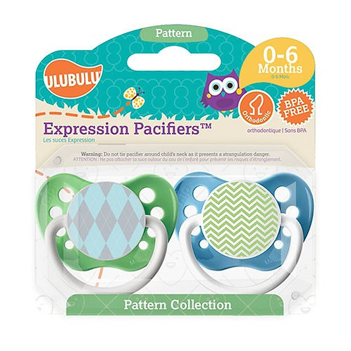 Blue Argyle & Green Chevron Pacifiers - Patterns