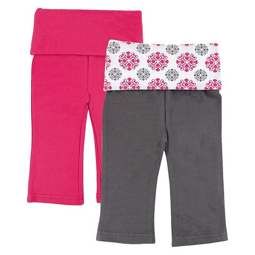2 Pack Yoga Pants for Baby Girl - Medallion Pattern