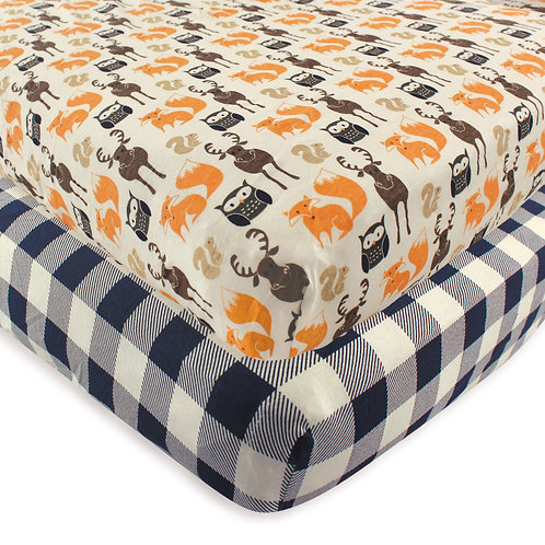 Hudson Baby Forest Animals Crib Sheet