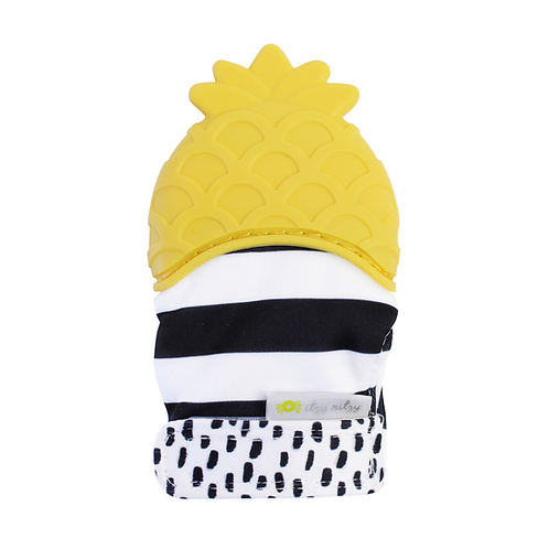 Pineapple Teething Mitt by Itzy Mitzies