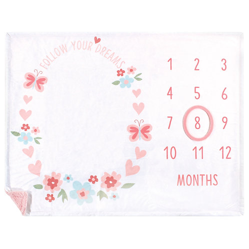 Monthly Milestone Blanket, Follow Your Dreams, Baby Milestones