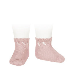 Socquettes Ajourées Rose Pâle