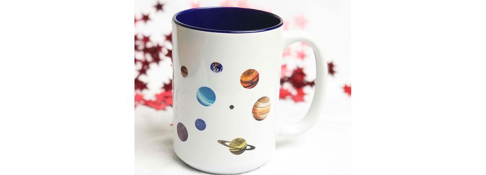 Outer Space Corgi Mug