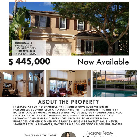 Beautiful house for sale in golf county club BallenIsles in Palm Beach Gardens, Florida.