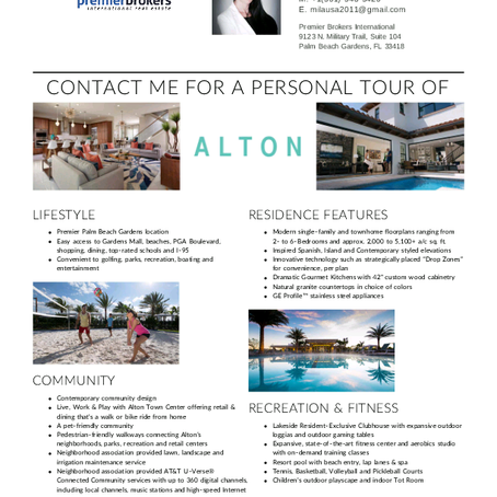 New community Alton in Palm Beach Gardens, FL