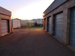 Trailer in storage yard