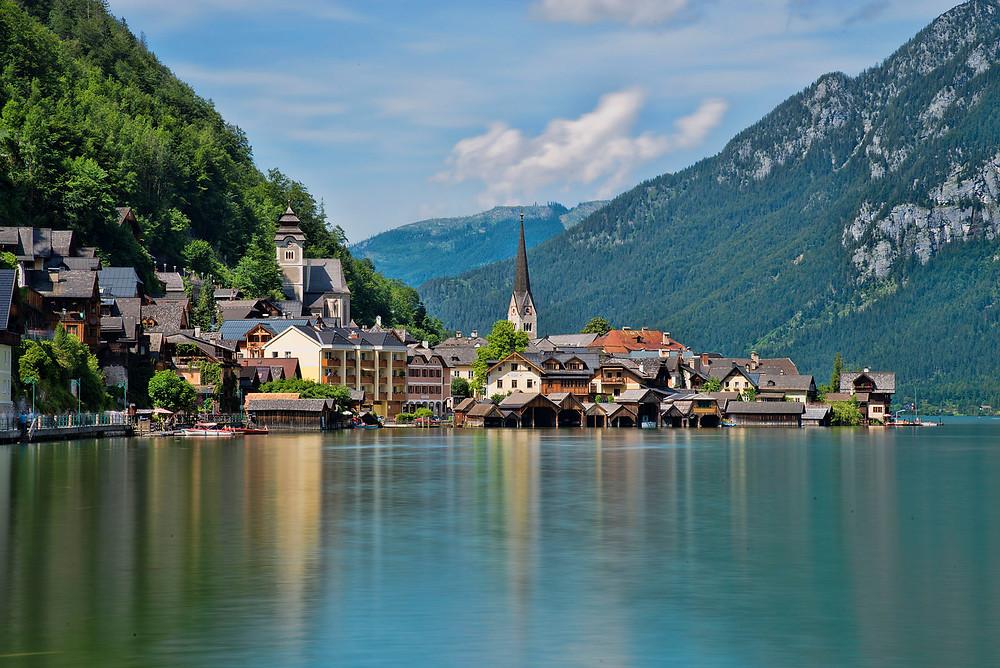 Photo of Hallstatt, Austria. Licensed under Creative Commons, by Wikipedia User Chensiyuan