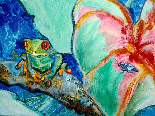 """Rainforest Frog"" Alison Winfield-Burns"