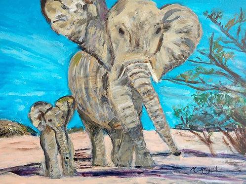 """""""Elephants"""" Marjorie Magid"""