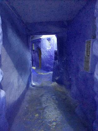 """Morocco—Blue Tunnel"" Dorothea Marcus"