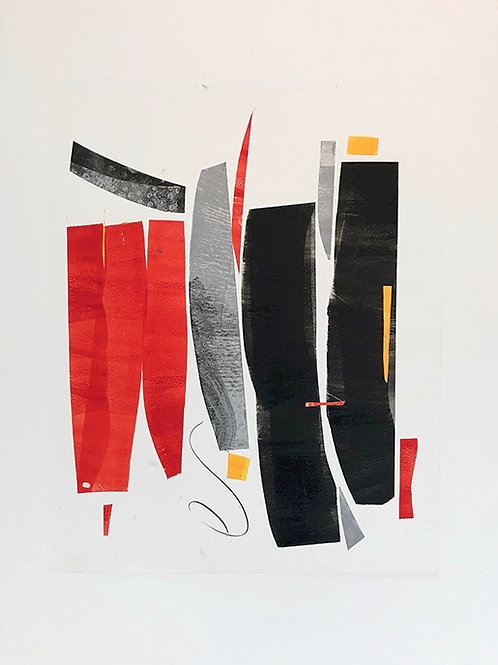 """Red Silver Blk Yellow"" Susanna Ronner"