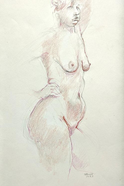 """""""Standing Nude"""" Loel Barr"""