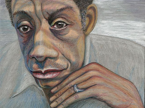 """James Baldwin"" Grey Ivor Morris"