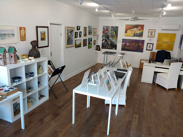 Emerge Gallery in Saugerties, NY, is a very welcoming environment and is available to rent for private exhibitions and parties.