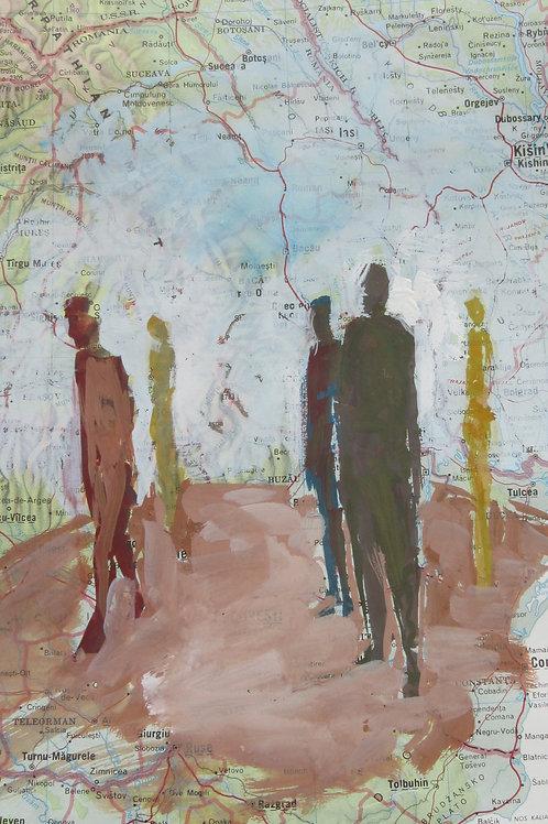 """Proxemics Map V"" Andrea Geller"