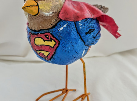 Window Spotlight: Superhero birds by Mike LaPeruta