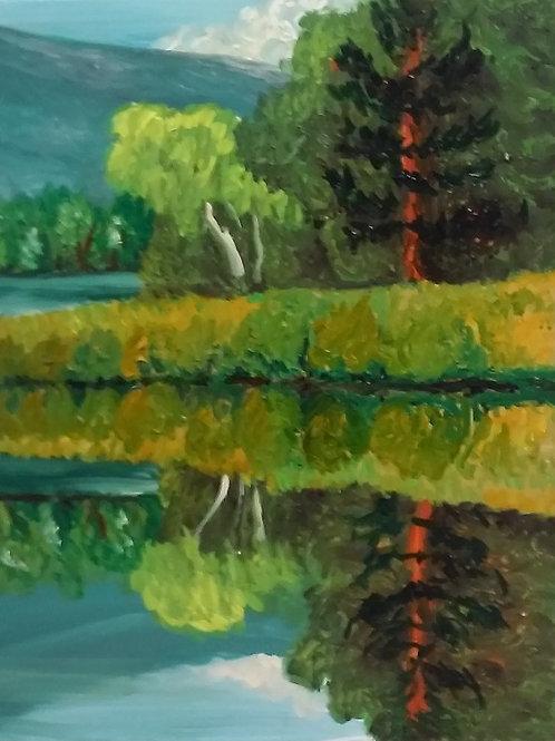 """Reflection (Wilson State Park)"" Linda Lynton"