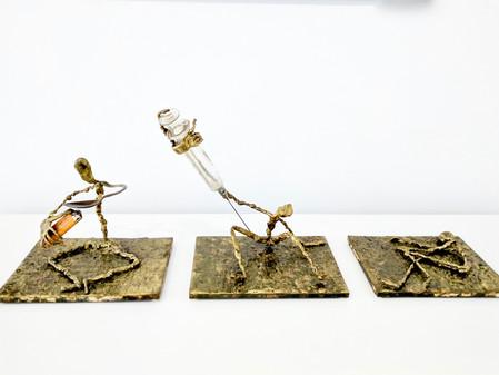 "Michael Ciccone discusses his sculpture ""Pain"""