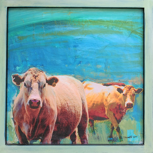 """""""Hudson Valley Cow 6"""" Paul Mindell"""