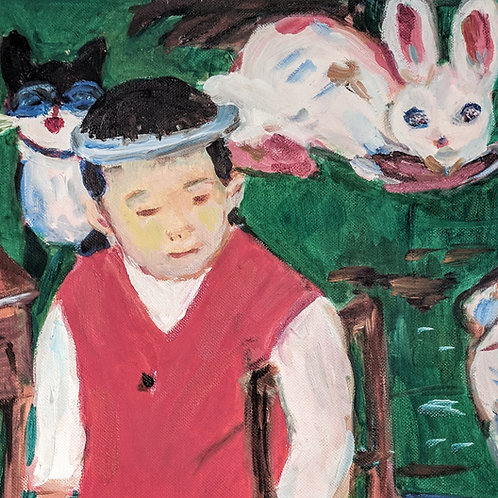 """Chinese Boy with Rabbit"" Marjorie Magid"