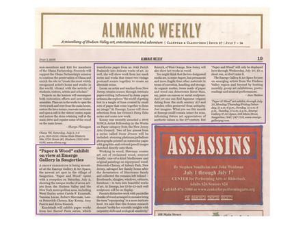 """""""Paper & Wood"""" coverage in Almanac Weekly"""