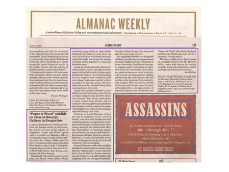 """Paper & Wood"" coverage in Almanac Weekly"