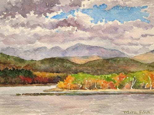 """""""Ashokan Reservoir with Clouds, Fall Light"""" Mira Fink"""