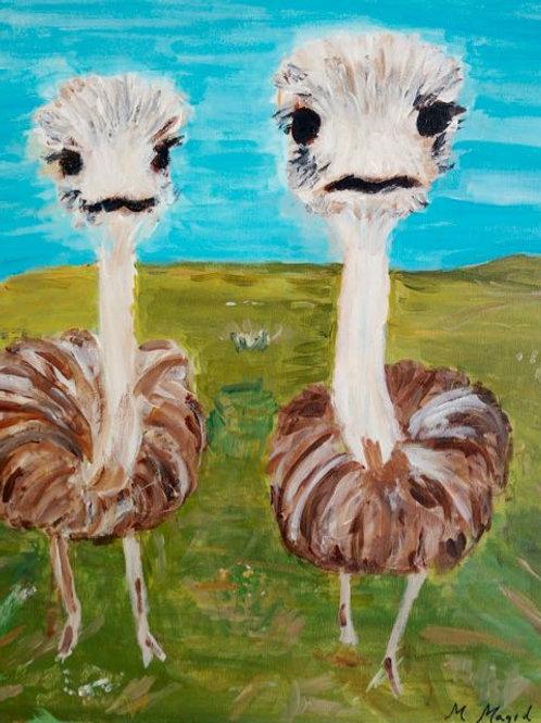 """Ostriches"" Marjorie Magid"
