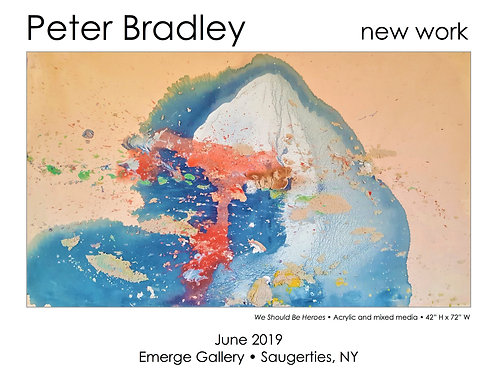 Peter Bradley: New Work — signed exhibition poster